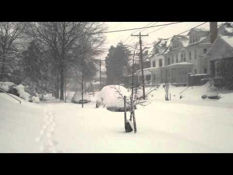 Big snow storm in Washington DC - Blizzard 2016
