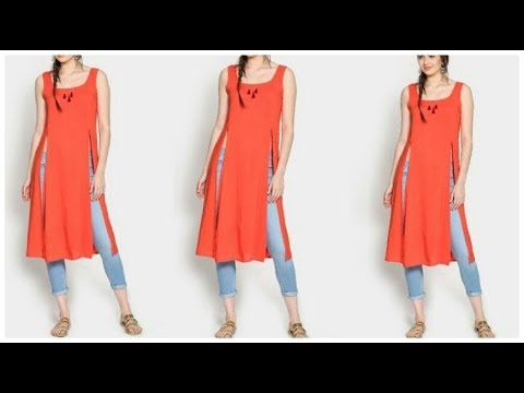 New Log kurti/kurta Designs with jeans college & Office wear outfits for girls and women 2018-19