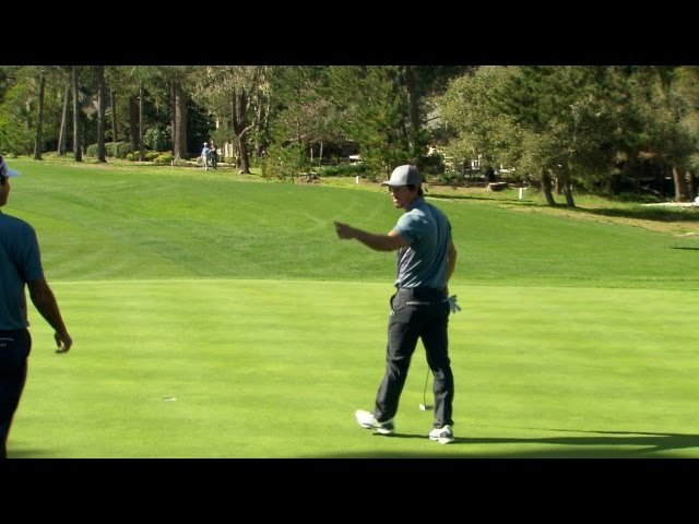 Mark Wahlberg grinds out excellent par save at AT&T Pebble Beach