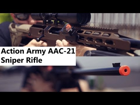 Airsoft GI - Action Army AAC-21 CNC Machined Gas Bolt Action Sniper Rifle