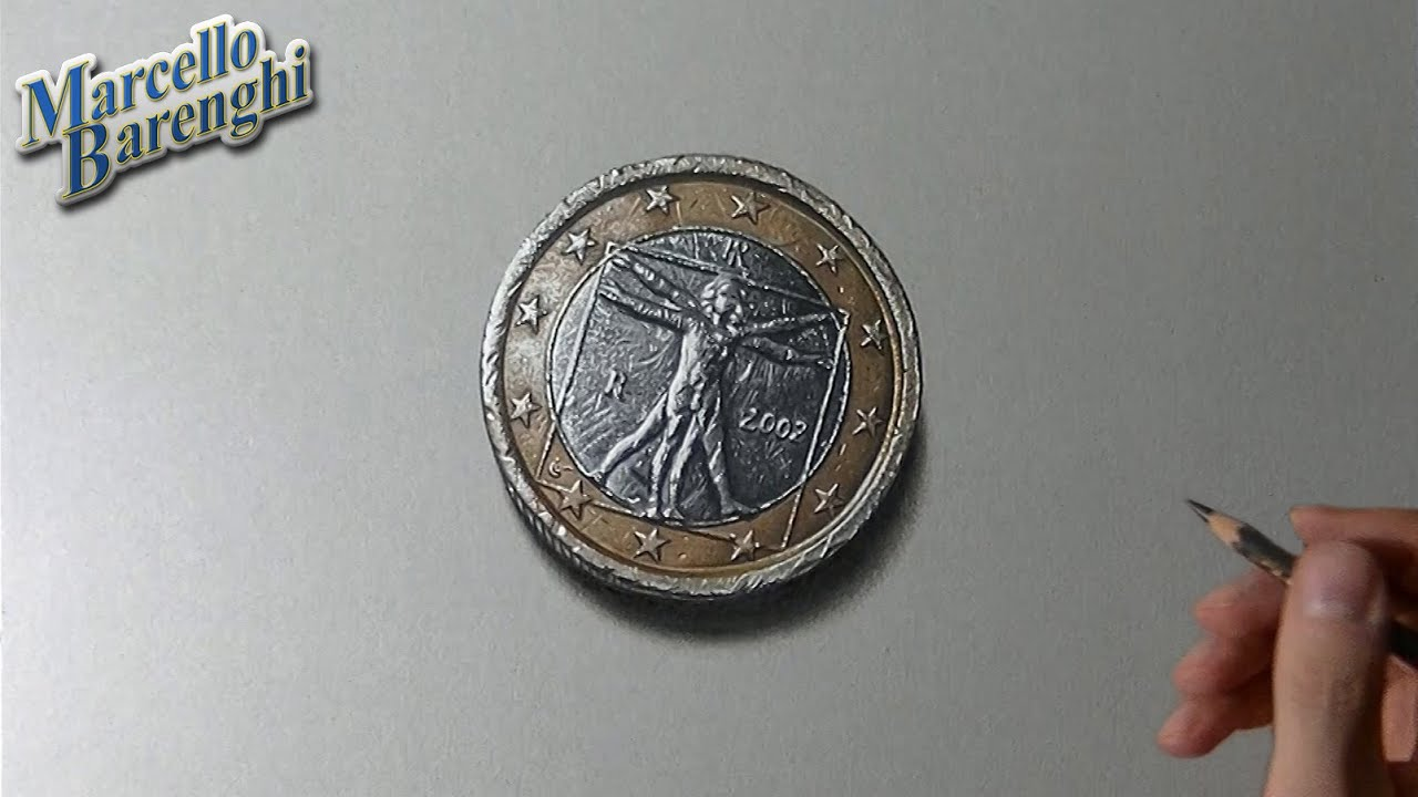 The One Euro Coin Drawing Youtube