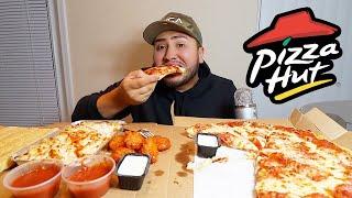 PIZZA HUT PASTA WINGS MUKBANG