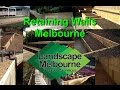 Treated Pine Retaining Walls Melbourne