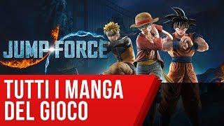 Jump Force: da Dragon Ball a Naruto, tutti i manga e gli anime del gioco