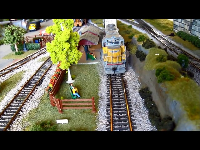 Model Trains in Action - HO scale