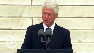 Former President Bill Clinton address at 50th anniversary Martin Luther King