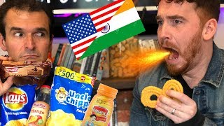 AMERICANS TRY INDIAN SNACKS!!!