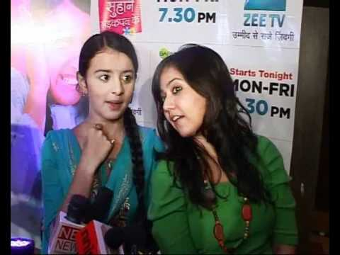 Cute Gunjan & Rachna at launch of ZEE TV Show Sapne Suhane Ladakpan Ke