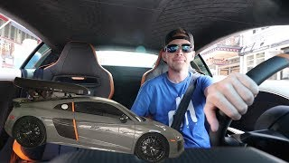 Taking the Guy who FIRED ME for a ride in the $230,000 Audi R8 V10+