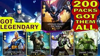 Injustice 2 Mobile 200 HERO PACK OPENING. Got all new characters, even LEGENDARY ARKHAM BATMAN.