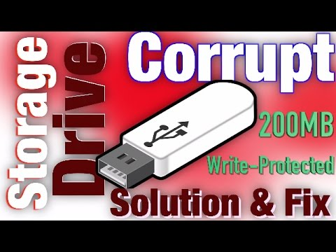How To Fix USB Flash Drive Wrong Storage 200MB Problem - Repair the corrupted Pen Drive. SDCard #usb