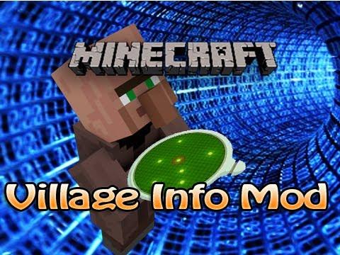 Minecraft Village Info Mod (1.3.2) - House, Villager, & Golem Counter - Villager Locator