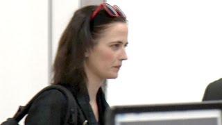 Bond Girl Eva Green Making Her Way Through LAX