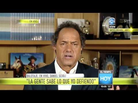 Daniel Scioli interpretó el mensaje del papa Francisco para el ballotage
