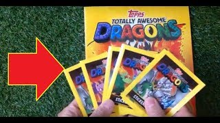 Topps Totally Awesome Dragons  Sticker Album  (2019) Opening And Review