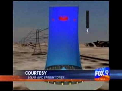 Solar Wind Energy Tower on KECY (FOX) - Yuma, AZ