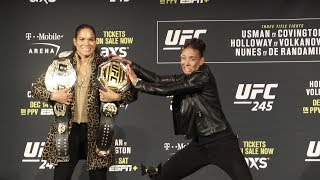 Amanda Nunes vs. Germaine De Randamie | UFC 245 Press Conference Face Off