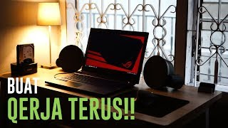 Setup Laptop Minimalis Setengah Workstation!!