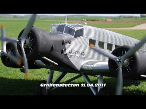 Worlds largest Ju 52 RC 100kg