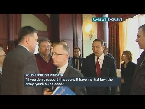"Ukraine protests: Polish minister Radoslaw Sikorski warns protest leader ""you'll all be dead"""