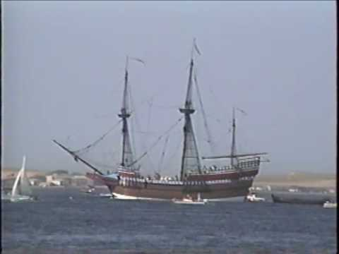 Arrival of the Pilgrims and Mayflower at Cape Cod