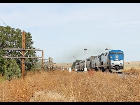 Chasing Amtrak's Southwest Chief over Raton Pass 10/7/14 HD