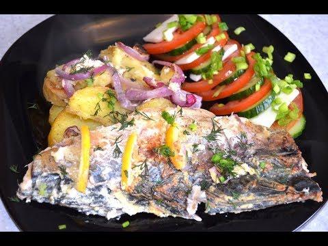 Рецепты ленивой хозяйки. Запеченная рыба с картошкой