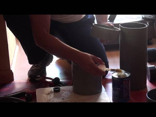 Fabricación de un filtro casero de PVC.