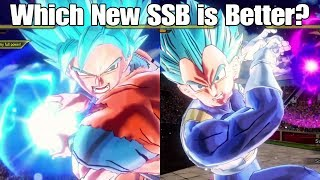 Xenoverse 2 Character Test! New SSGSS Goku Vs New SSGSS Vegeta Variation!!!