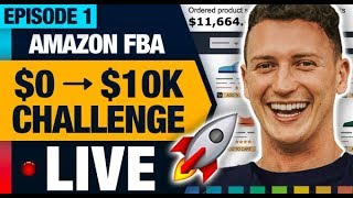 AMAZON FBA $10K CHALLENGE 🚀 FINDING THE TOP 10  PRODUCT IDEAS IN 30 MINUTES (EPISODE 01)