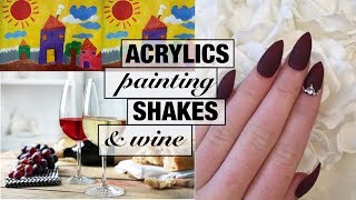 ACRYLICS, PAINTING, SHAKES AND WINE - VLOG