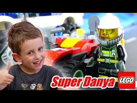 Лего сити мультик Пожар на болотах  (Пожарный квадроцикл) 60105. LEGO City Fire