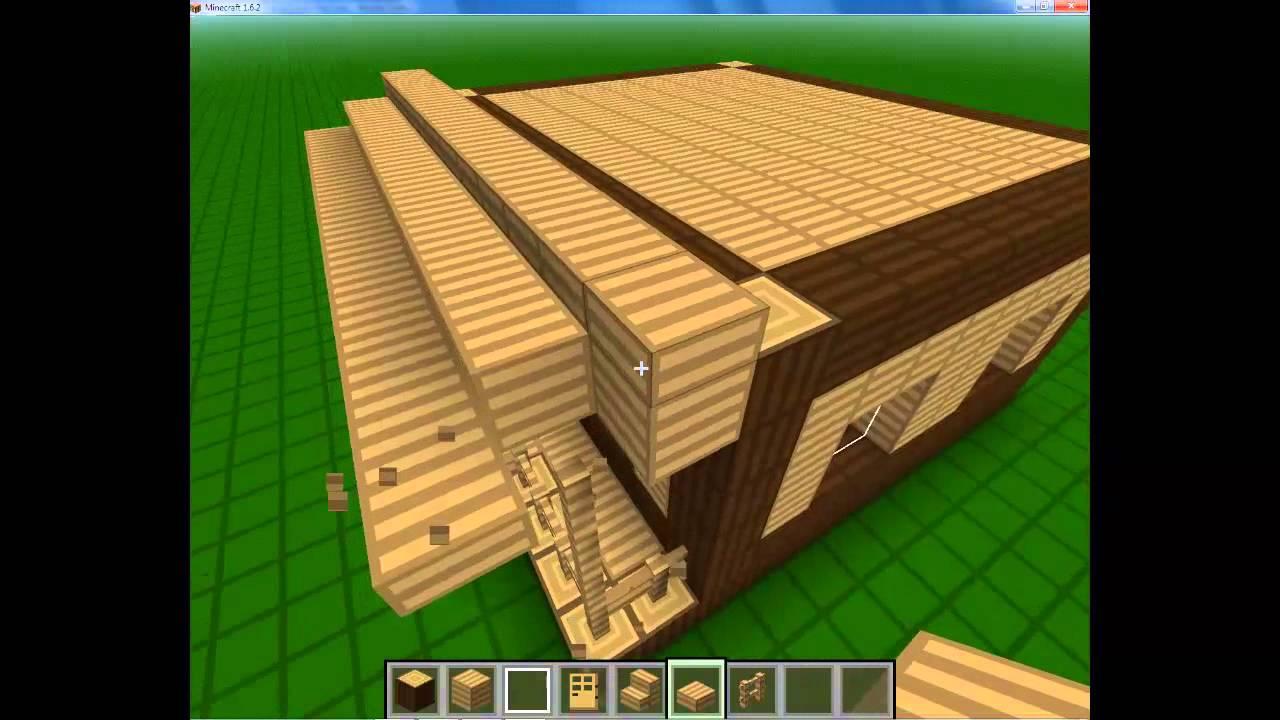 Toturiales minecraft c mo hacer una casa peque a de - Como hacer casa de madera ...