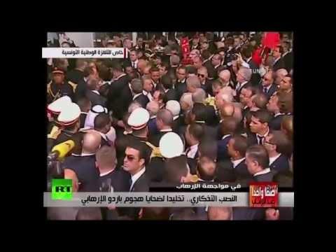François Hollande à la marche contre le terrorisme à Tunis
