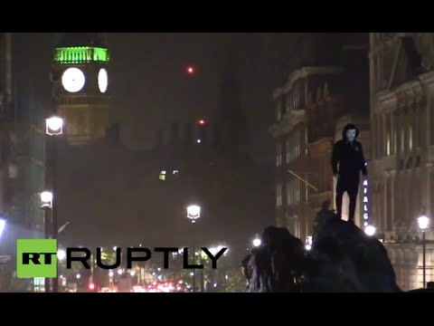 LIVE - Million Mask March floods London streets