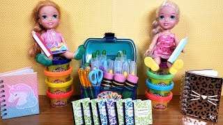 Back to School shopping ! Elsa and Anna toddlers get supplies