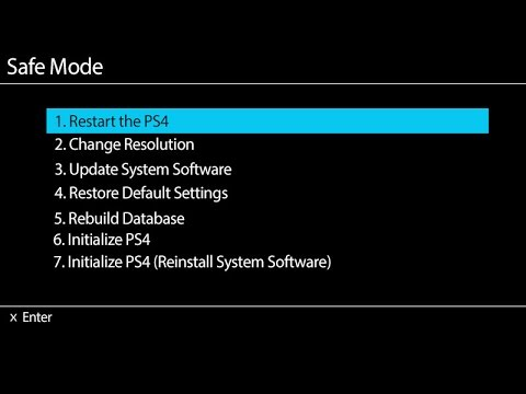 Sony PS4 • Rebuild Database (Safe Mode)