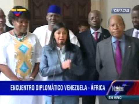 Delcy Rodríguez se reúne con embajadores de África