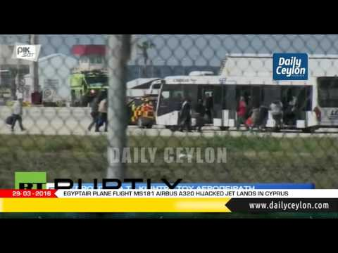 EgyptAir Plane Flight MS181 Airbus A320 Hijacked Jet Lands In Cyprus