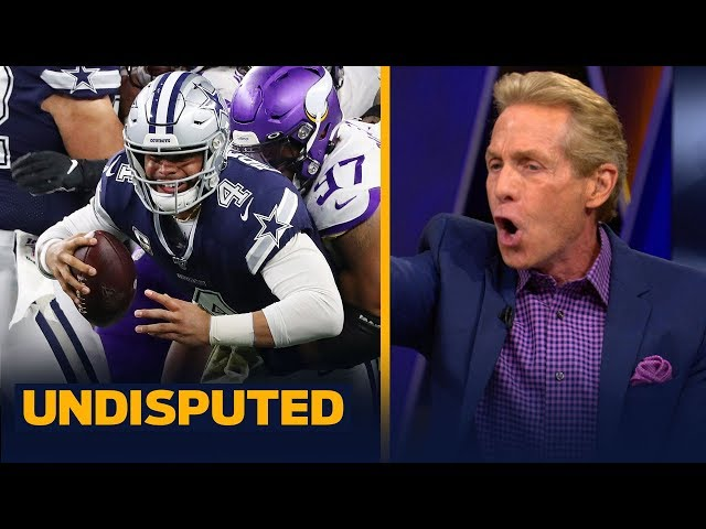 Skip Bayless reacts to the Dallas Cowboys' Week 10 loss to the Vikings   NFL   UNDISPUTED thumbnail