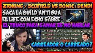 CARREADOR O CARREADO? ZTOKING SACA SU LIFE CON EL BUILD ANTIGUO CONTRA SONIC ! DENDI - DOTA 2