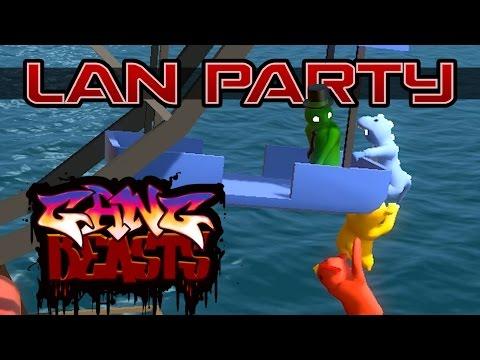 Stunt Wheel Fight - Gang Beasts - LAN Party