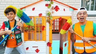 Jason cleans dirty playhouses