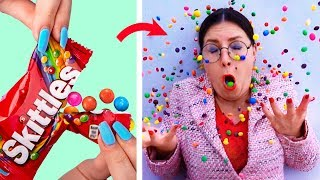 Download Song 15 Weird Ways To Sneak Food Into Class / School Pranks And Life Hacks Free StafaMp3