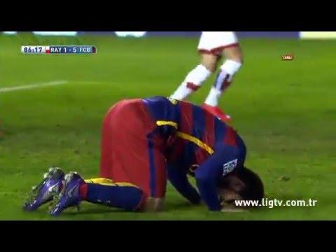 Arda Turan'ın Barcelona'daki ilk golü! Rayo Vallecano 1-5 Barcelona