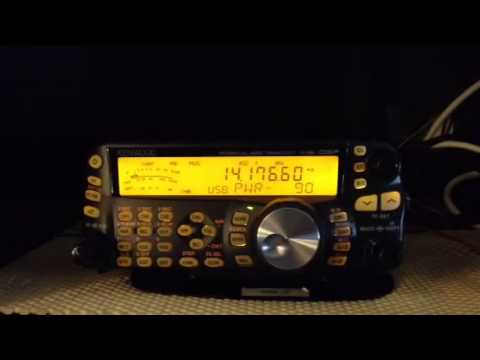 Amateur radio contact with RZ6BR in Russia