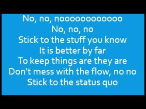 High School Musical - Cast - Stick To The Status Quo (Lyrics)