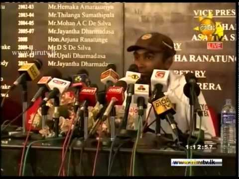 Mahela Jayawardene's Farewell to Test Cricket - Press Conference