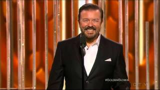 Ricky Gervais burns Ben Affleck at the 2016 Golden Globes