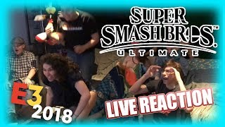Super Smash Bros. Ultimate - E3 2018 LIVE REACTION - SuperGirlKels